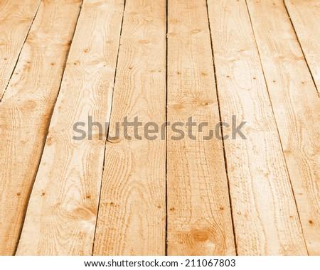texture of wooden boards floor - stock photo