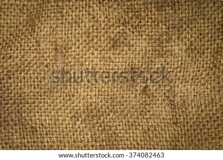 texture old sack fabric as background - stock photo