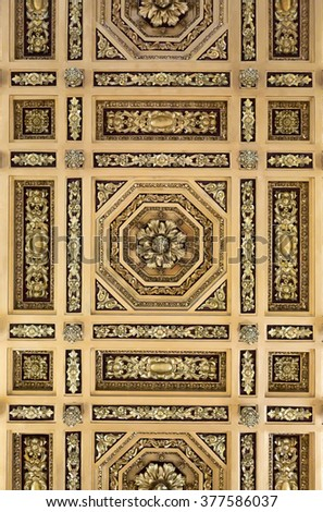 Texture painted ceiling in the Empire style. - stock photo