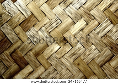 Texture pattern background, woven wood Photo of Texture pattern background, woven wood - stock photo
