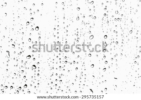 Texture Rain drops on the glass - stock photo