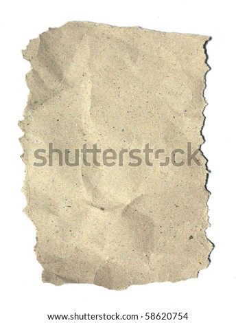 Texture recycle paper on white background - stock photo