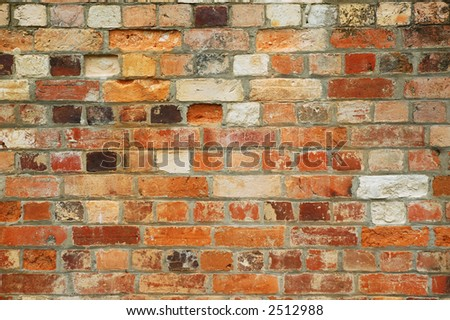 Texture Series. Old Brick Wall Background - stock photo