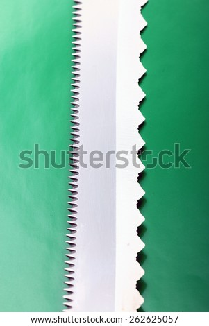 texture steel saw blade - stock photo