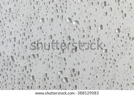 Texture with water drops and a white background - stock photo