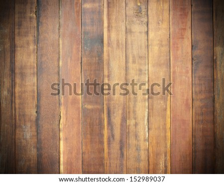 Texture  wood pannels on wall background - stock photo