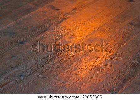 texture wooden floor orange - stock photo