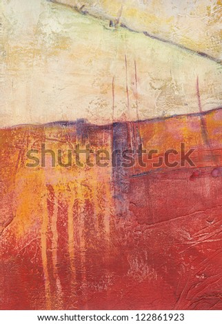 Textured abstract painting. Handpainted grunge background. - stock photo
