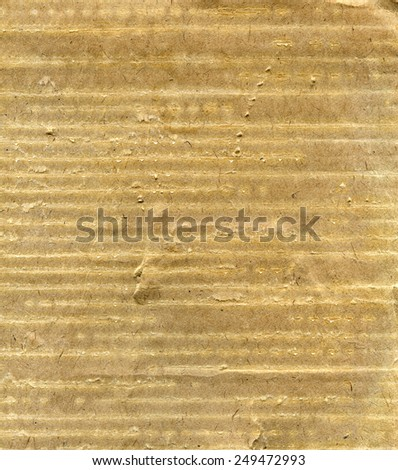 Textured aged striped grainy paper with natural fiber parts - stock photo