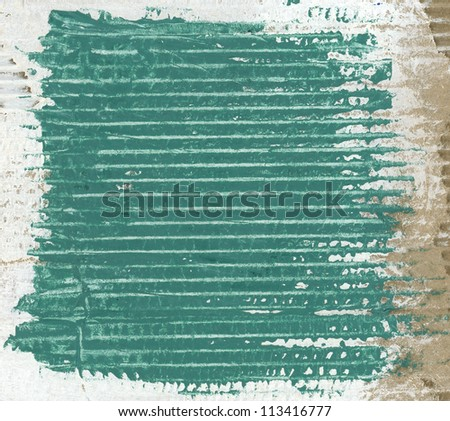 Textured green painted cardboard - stock photo