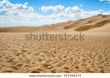 Textured Ground of Great Sand Dunes National Park - stock photo
