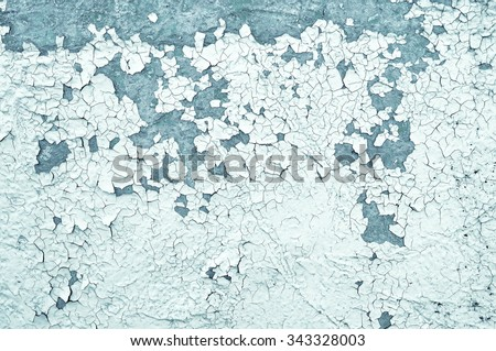 Textured industrial grunge background - light beige and grey peeling paint  on the old rough concrete surface - stock photo