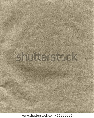 Textured obsolete crumpled recycled paper background - stock photo