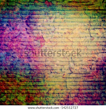 Textured old canvas fabric as background - stock photo