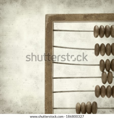 textured old paper background  with wooded abacus - stock photo