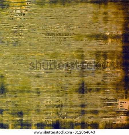 Textured old pattern as background. With different color patterns: yellow (beige); brown; blue; green - stock photo