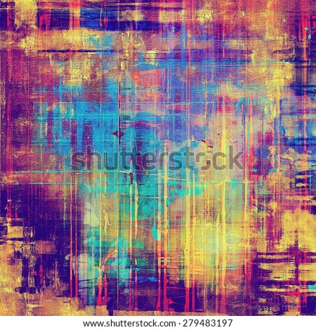 Textured old pattern as background. With different color patterns: yellow (beige); pink; blue; purple (violet); red (orange) - stock photo