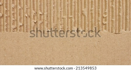 Textured recycled torn cardboard - stock photo