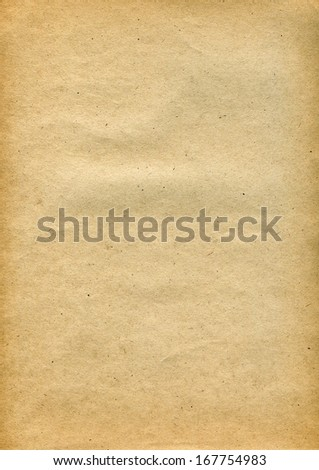 Textured recycled vintage paper with natural fiber parts - stock photo