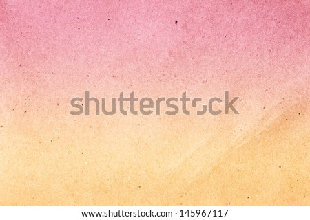 Textured recycled vintage pink gradient  color  paper with natural fiber parts texture background. - stock photo