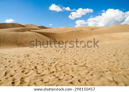 Textured Sand and Dunes at Great Sand Dunes National Park - stock photo