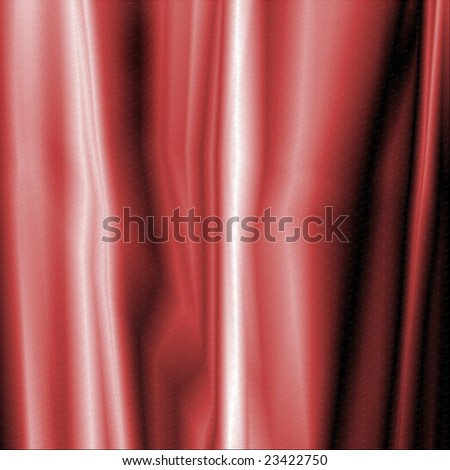 Textured silky fabric background in shades of red - stock photo