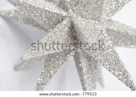 textured snowflake in 3d - stock photo