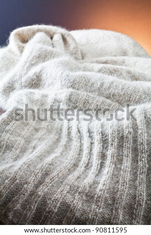 textures of wool cloth - stock photo