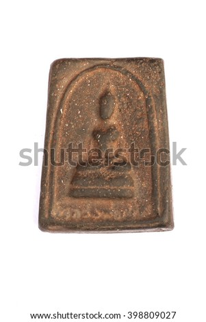 thai amulet buddha - stock photo