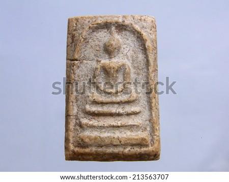 thai ancient buddha image - stock photo