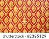 thai art gold painting pattern - stock photo