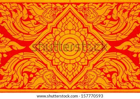 Thai art wall pattern  - stock photo