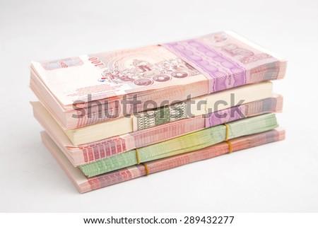 Thai Baht banknotes - stock photo