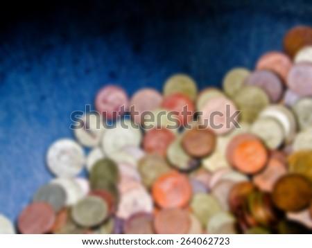 Thai baht coins in blur style - stock photo