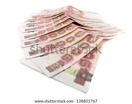 Thai Banknote of 1000 Baht - stock photo