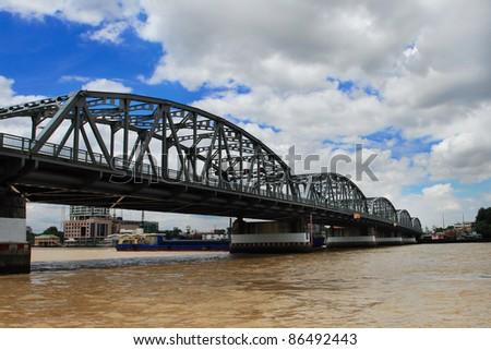 Thai bridge - stock photo
