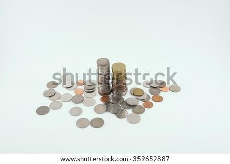 thai coin money - stock photo
