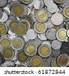 Thai coins money background - stock photo