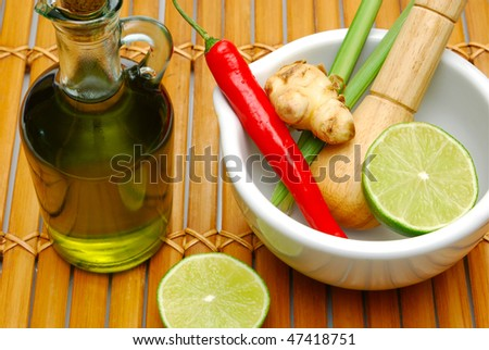thai cooking spices - stock photo