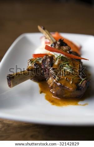 Thai Curry Lamb Chops - stock photo