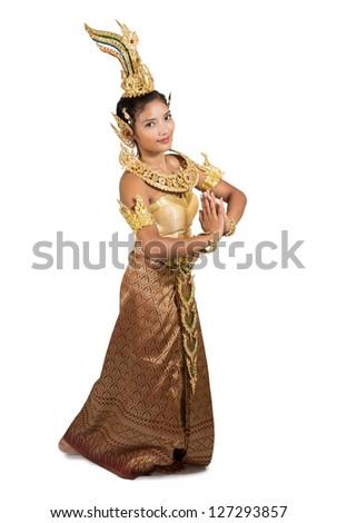 Thai dancer - stock photo