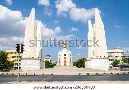 Thai Democracy Monument - stock photo