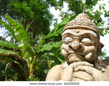 Thai Demon - stock photo