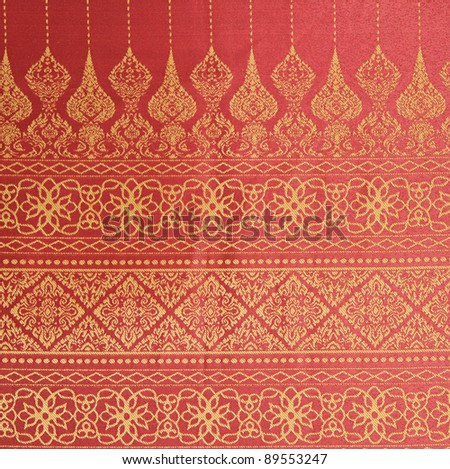 Thai fabrics patterns - stock photo