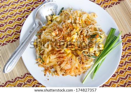 Thai food, Pad thai, Thai style noodles - stock photo