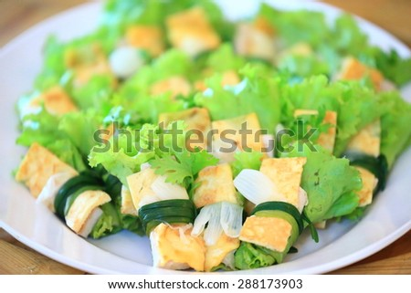 Thai food ready for breakfast in hotel. - stock photo