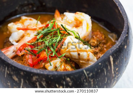 Thai Food Spicy - stock photo