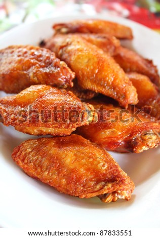 Thai fried chicken - stock photo