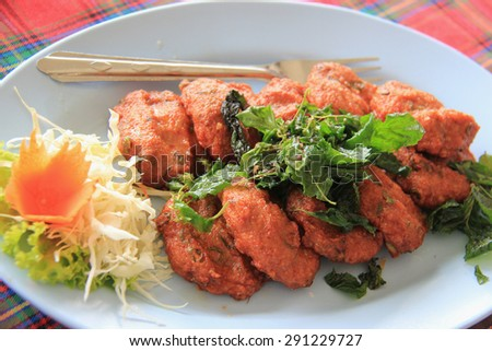 Thai Fried Fish Cake - stock photo