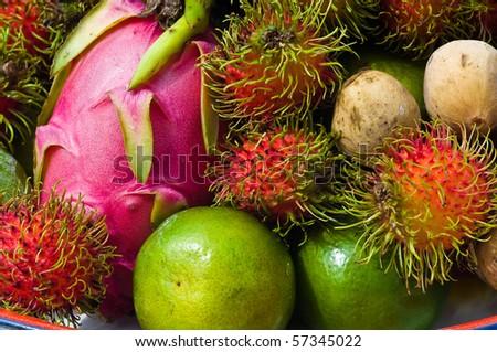 Thai fruits - stock photo